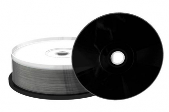 CD-R 700MB 52x, ČERNÉ, Inkjet Fullsurface Printable, spindl 25 ks